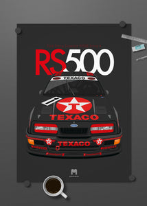 1988 Ford Sierra Cosworth RS500 Group A Texaco Eggenberger - poster print