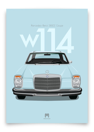 1971 Mercedes-Benz 280CE (W114) Coupe - poster print