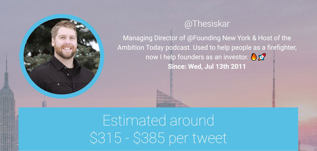 Paid Exposure | Estimated Earnings & Engagement for Twitter Influencer @thesiskar