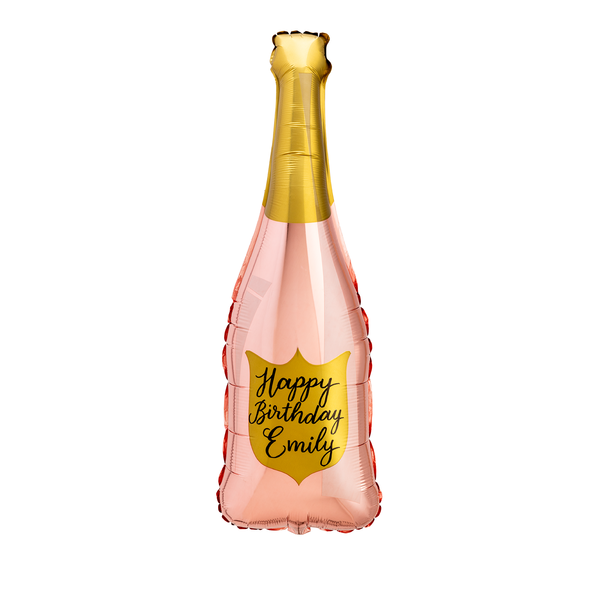 Rose Gold Champagne Bottle Balloon - Paper Confetti Events