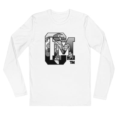 "Chase Money ""CM Running Man"" Long Sleeve Fitted Crew"
