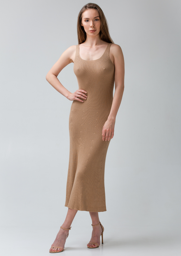 DEAUVILLE dress - Camel