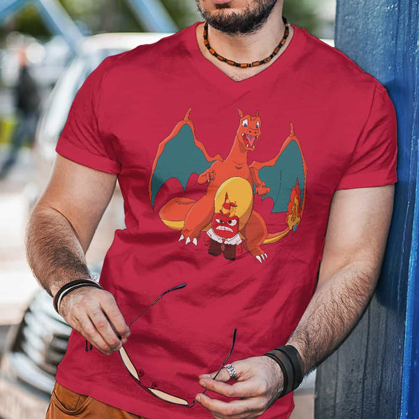 453efe94b Charizard And Anger, Pokemon, Pixar Inside Out, Unisex T-Shirt ...