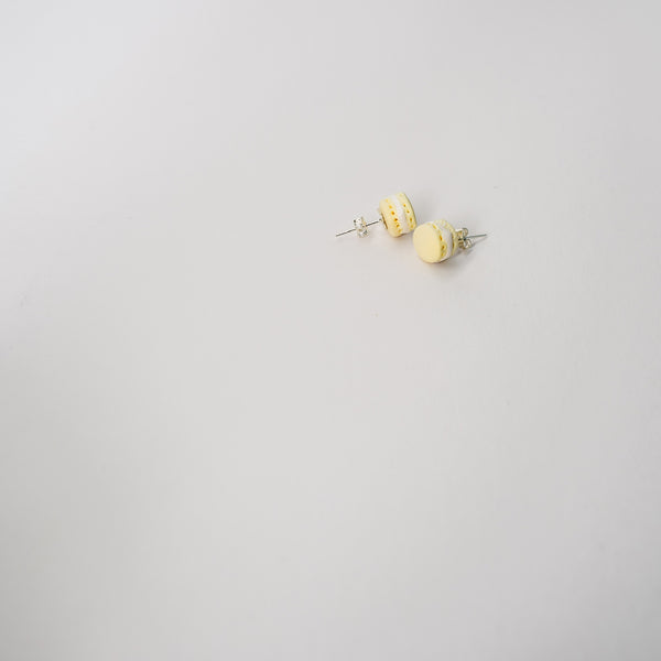 Macaron Earrings - pale yellow