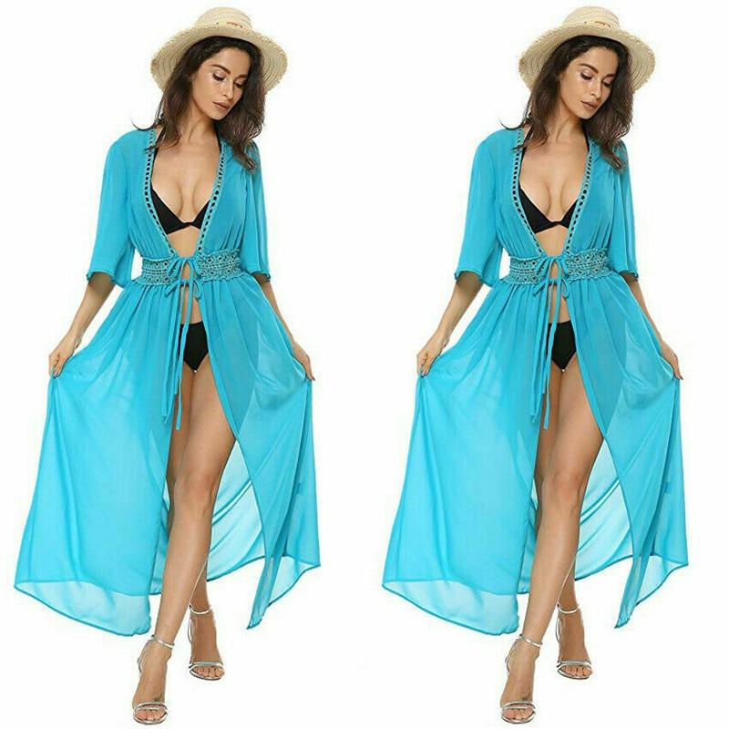 Sexy Beach Dress Swimwear Women Beach Cover Up Cardigan Swimwear Bikini Cover ups Robe Plage Zaful Dress for Beach