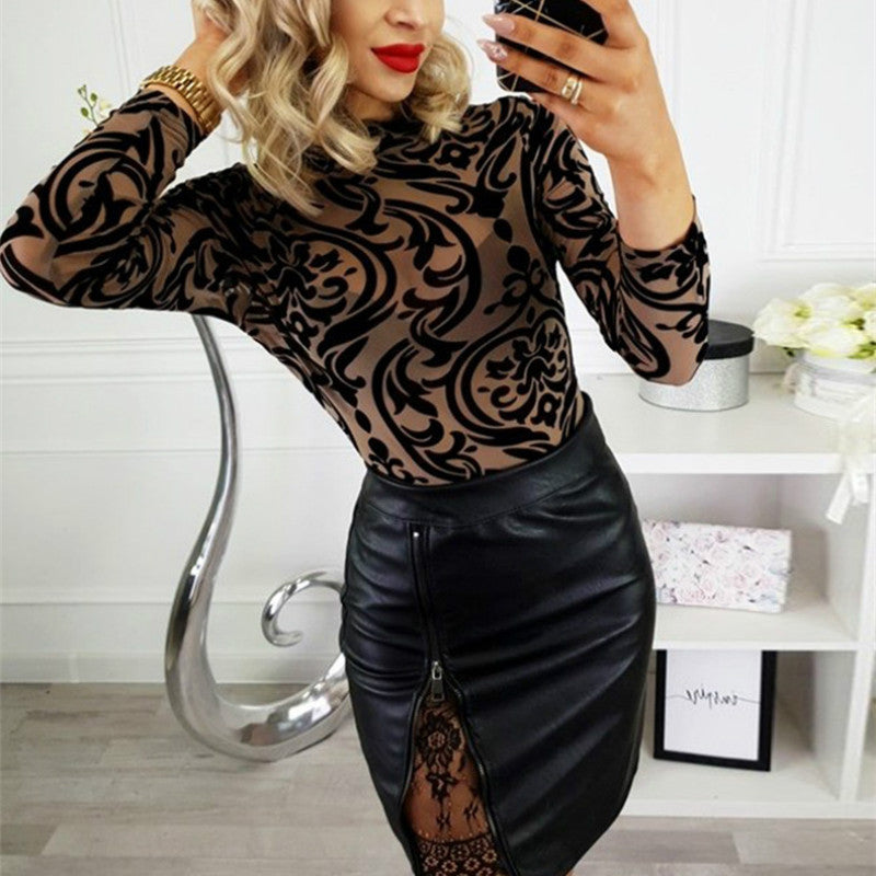 Sexy High Waist Leather Skirt PU Solid Mini Elegant Coffee Burgundy Black Pencil Skirts