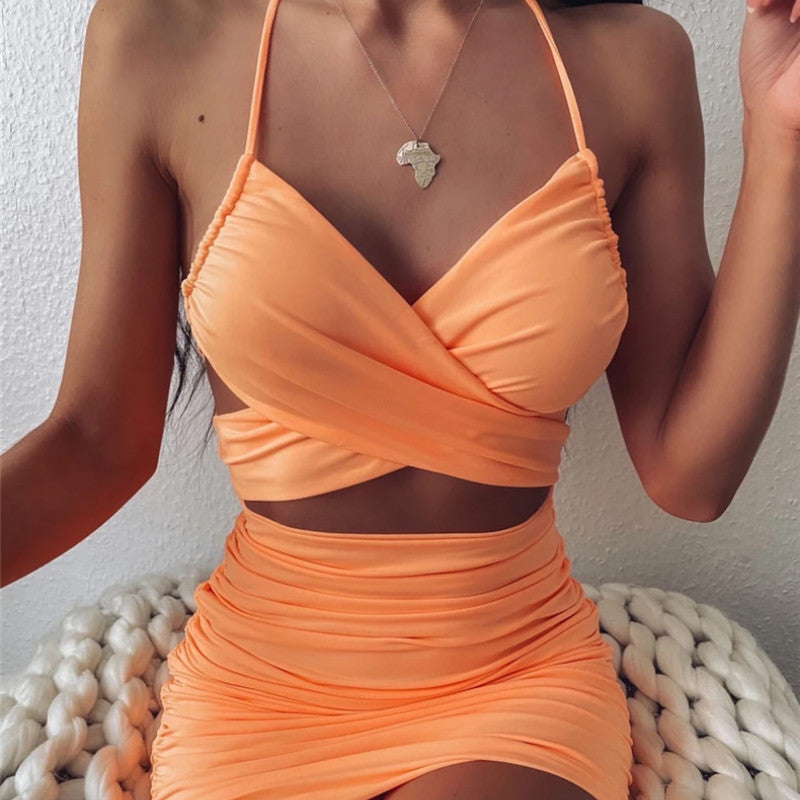 Sexy Dress Women Party Night Mini Bodycon Backless Hollow Out New Club Outfits Women Dress