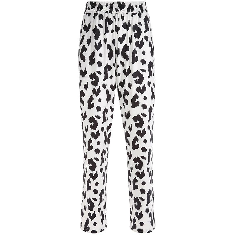Zebra Animal Print Elegant Pants Capris High Waist Trousers Ladies Casual Office Pants Women Streetwear