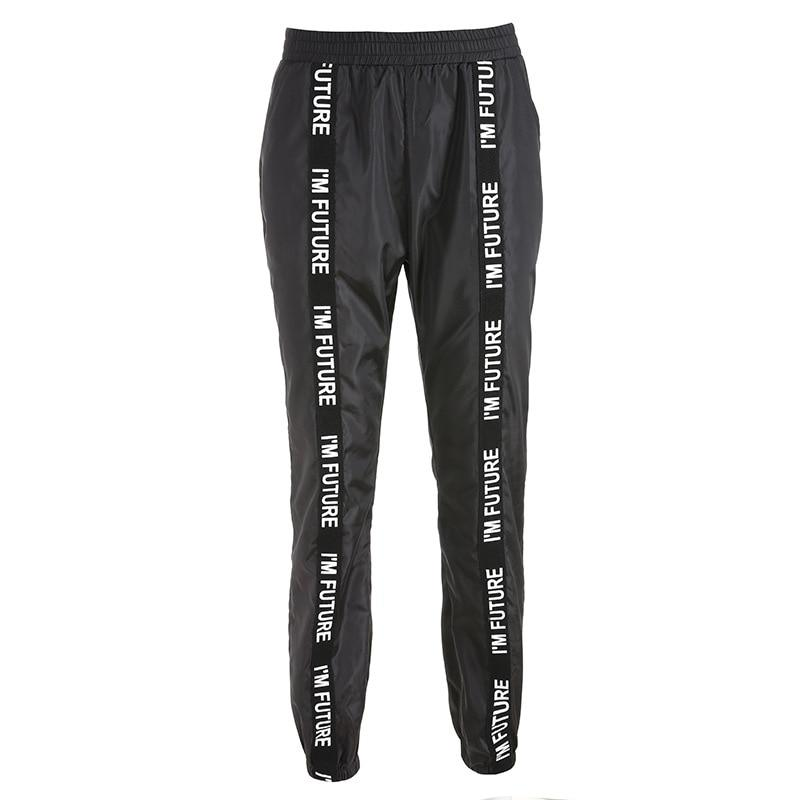 Sweatpants Trousers Women Hip Hop Loose Jogger Mujer Sporting Elastic Waist Black Casual Combat Streetwear Fashion