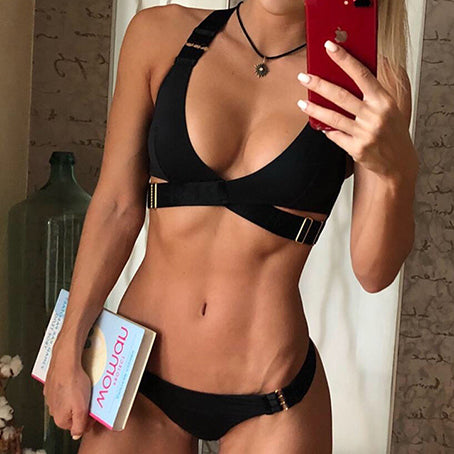 Bandage Sexy Bikini Swimsuit Female Sports Push Up Swimwear Women Bathers Thong Brazilian Biquini Bathing Suit