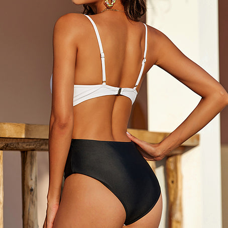 Sexy Belt Bodysuit One Piece Swimsuit Female Push Up Swimwear Women Underwire Swimsuit One-piece Suits Monokini Beach Wear