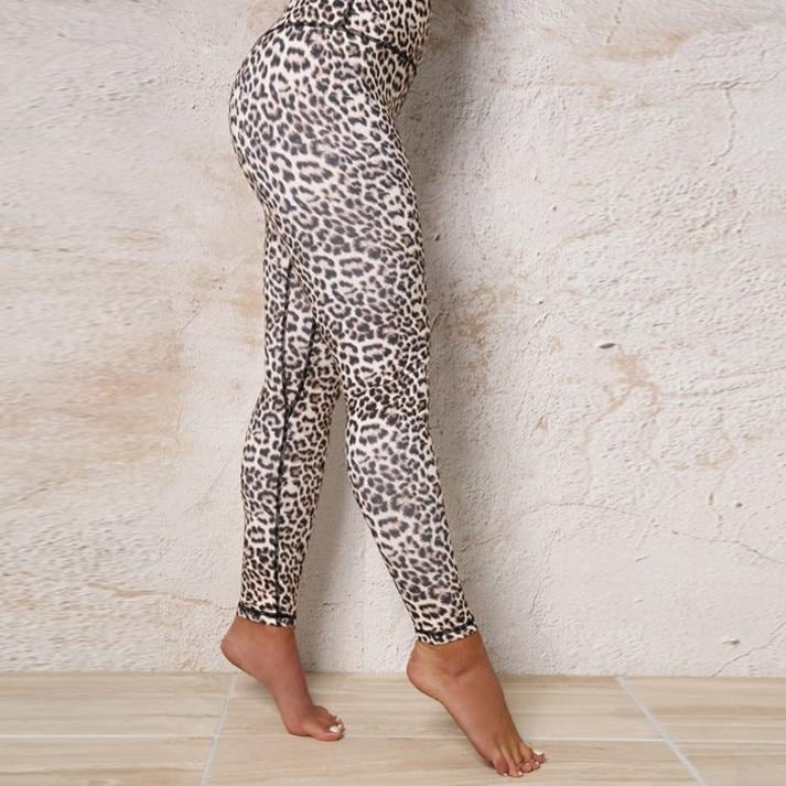 High Waist Leopard Sexy Push Up Leggings Women Workout Polyester Fitness Trousers Activewear Slim Casual