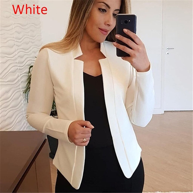Womens Ladies Cardigan Solid Long Sleeve Pocket Outerwear Trench Fashion New Coats and Jackets