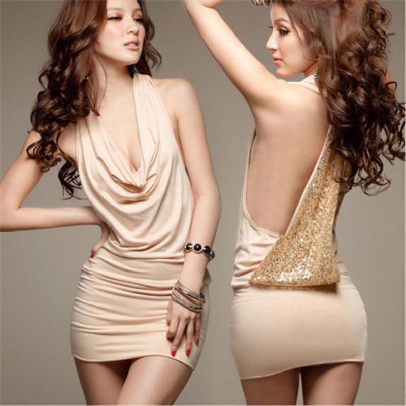 Sexy Sequin Strap V Neck Party Elegant Dresses Women Backless Zipper Club Dress Christmas Mini Dress Vestidos