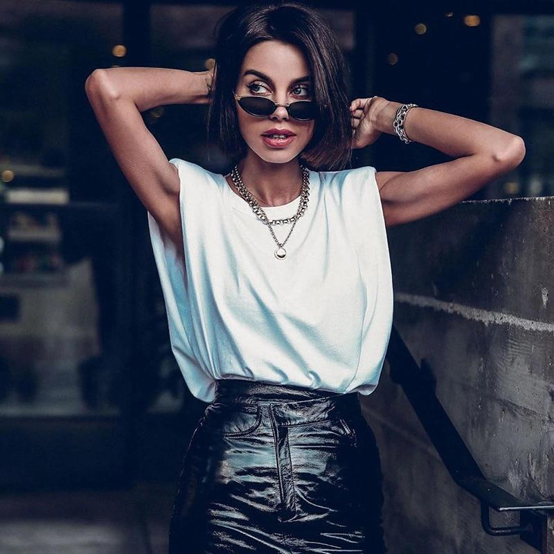 Women Sleeveless Tops Female O Neck White Women Blouse Shirt Ladies Loose Solid Chic Casual Blouses Black Cotton Blouse