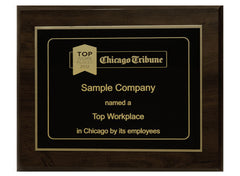 Small 8x10 Top Workplaces Plaque