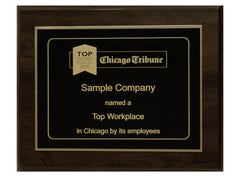 Large 12x15 Top Workplaces Plaque