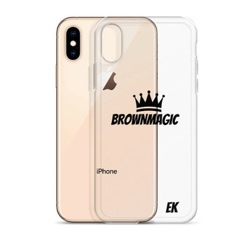 Brown Magic Transparent mobile case