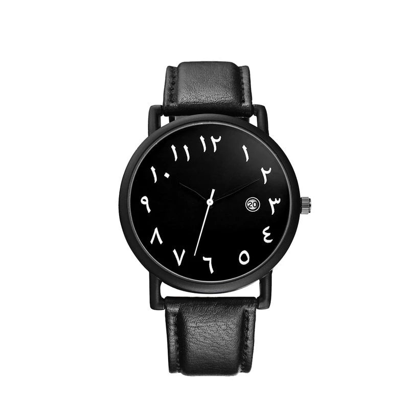 UNISEX ARABIC WATCH - BLACK