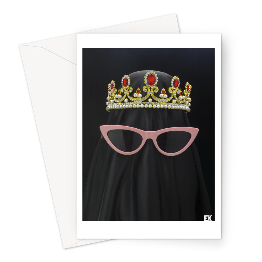 BURKA ON FLEEK Greeting Card