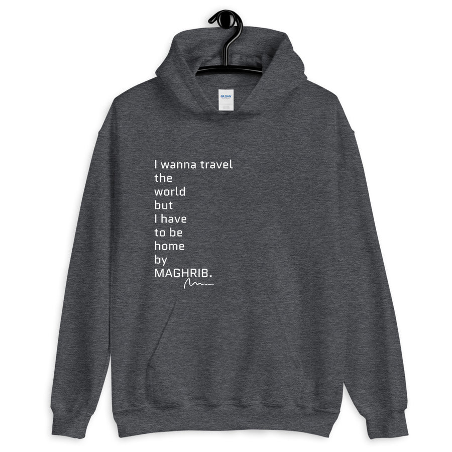 I wanna travel the world but ... - Unisex Hoodie