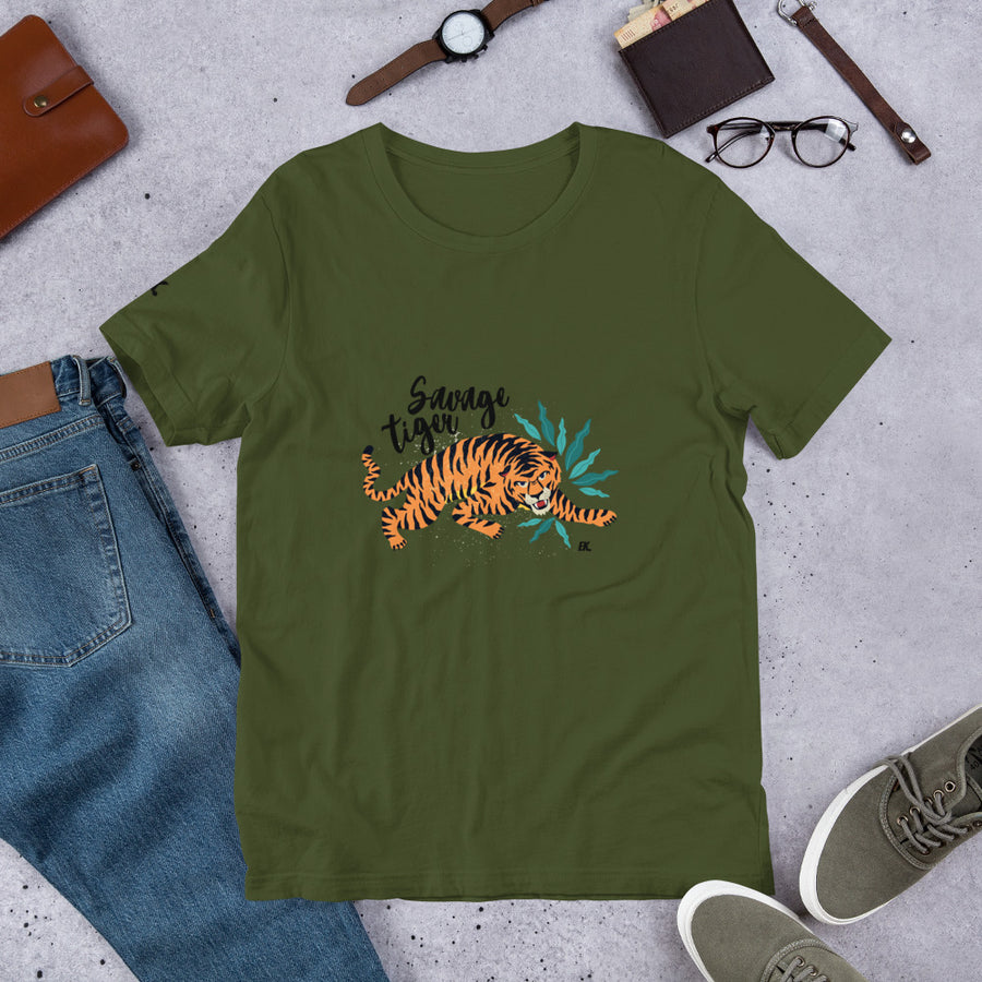 Savage Tiger - Short-Sleeve Unisex T-Shirt