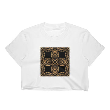 Mandala Design For Yoga Royal Pattern Women's Crop Top