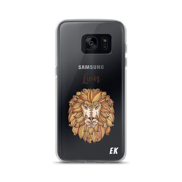 Lion Head With Ethnic Floral Pattern Samsung Case