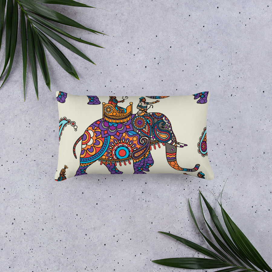RAJA ON ELEPHANT - Basic Pillow