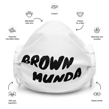 Brown Munda - Face mask