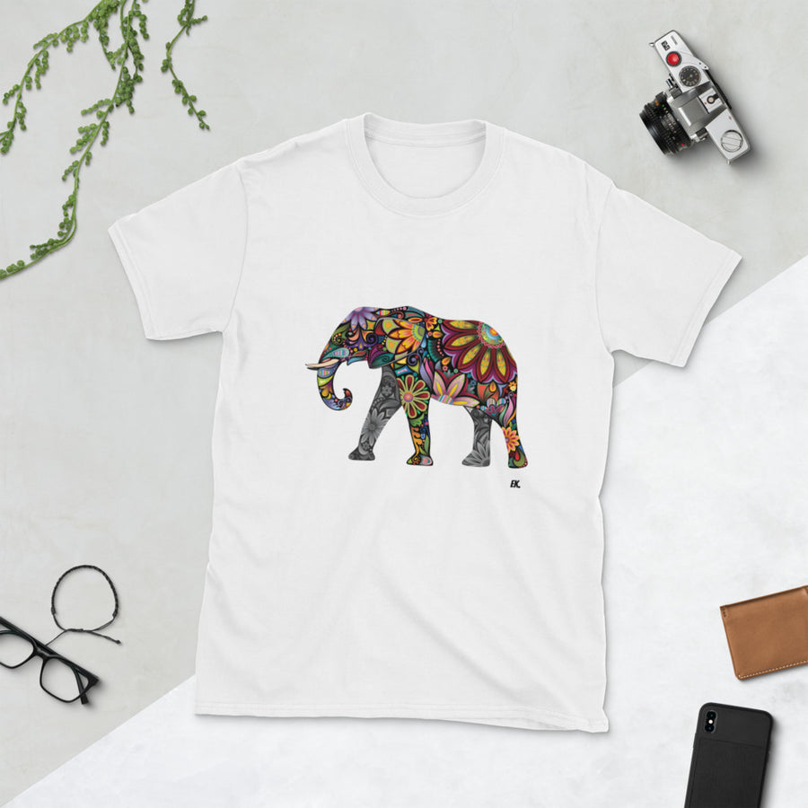 Colourful Elephant - Short-Sleeve Unisex T-Shirt