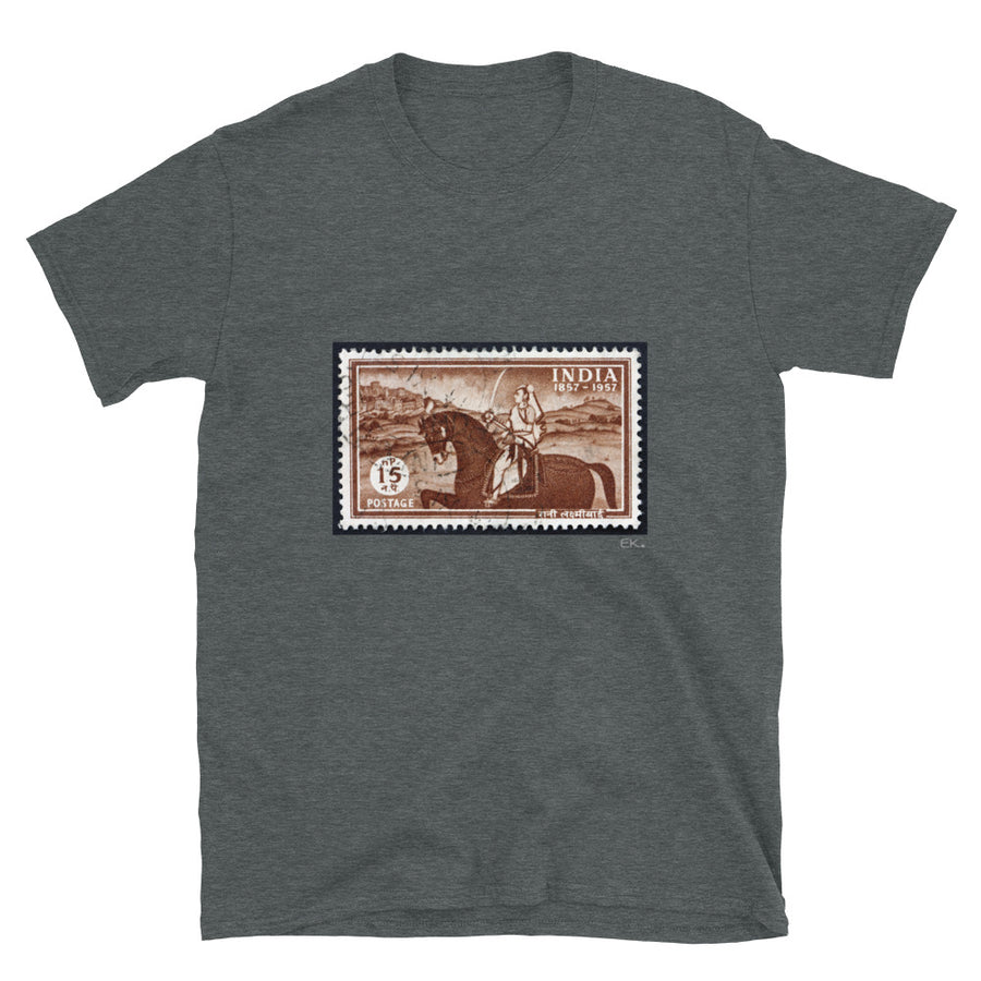 INDIAN STAMP 1857-1957 -Short-Sleeve Unisex T-Shirt