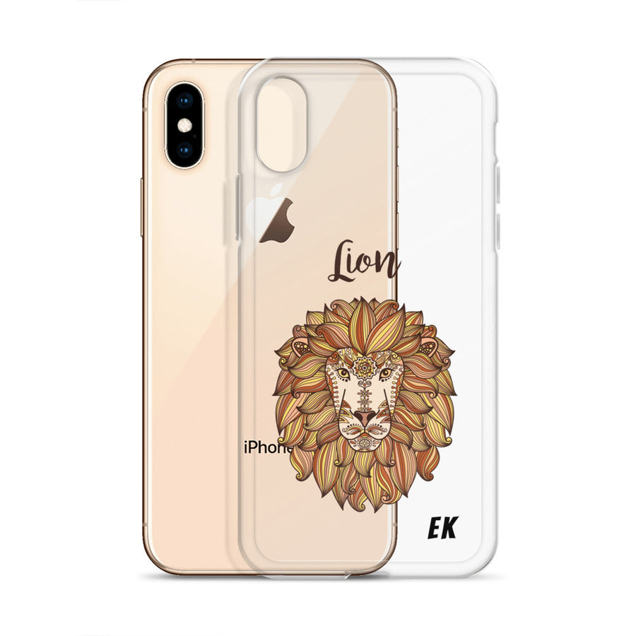 Lion Head With Ethnic Floral Pattern iPhone Case