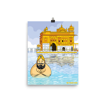 SARDAR IN WATER GOLDEN TEMPLE - Poster