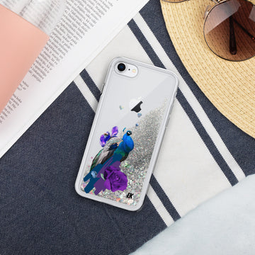 Peacock - Liquid Glitter Phone Case