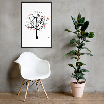 ARABIC TREE - Framed poster