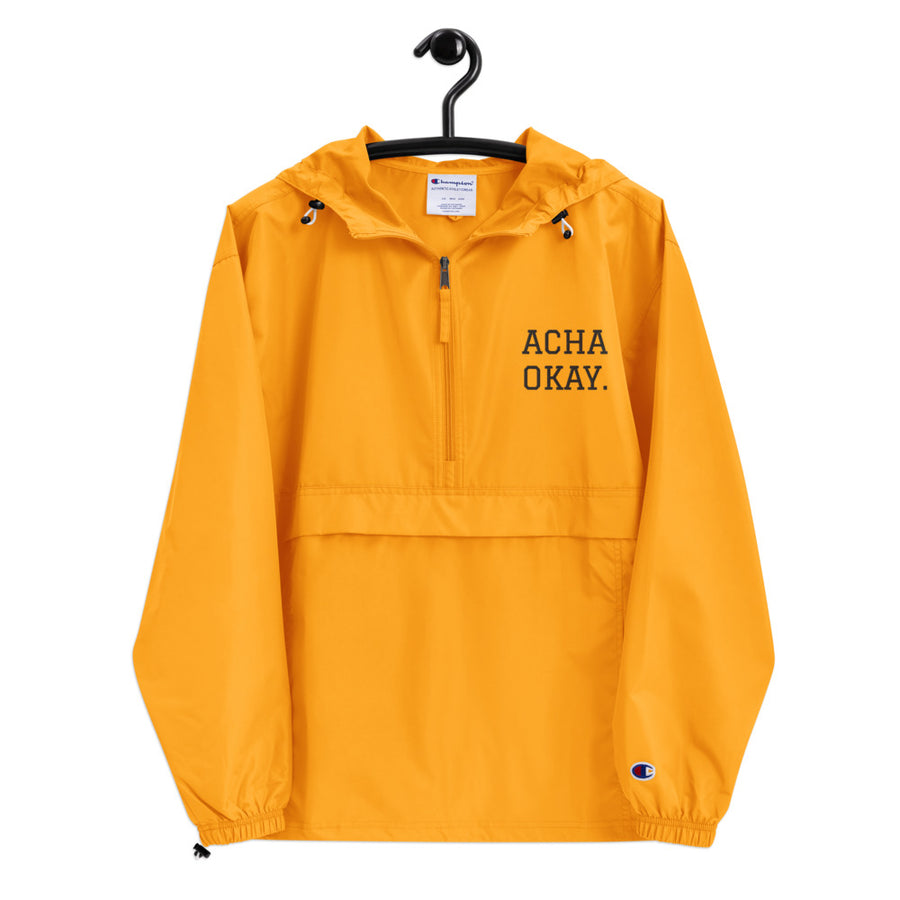 ACHA OKAY - Embroidered Champion Packable Jacket