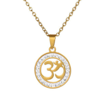 OM Pendant Necklace Gold/Silver