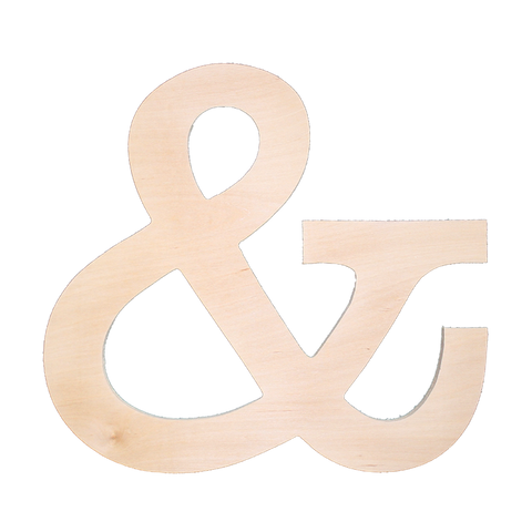 """&"" Ampersand Wood Sign"