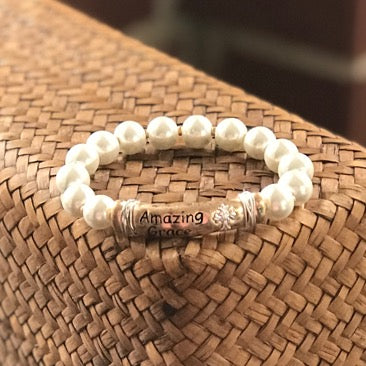 Amazing Grace Pearl Stretch Bracelet