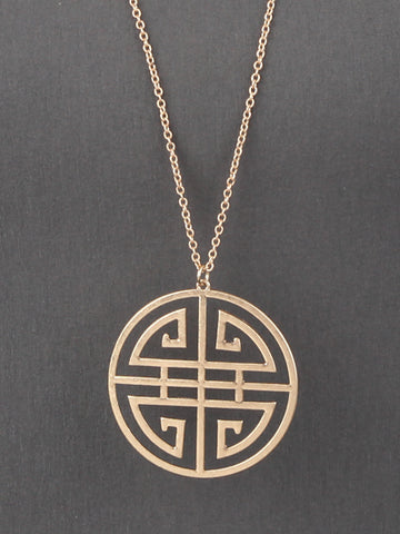 Gold Pattern Necklace