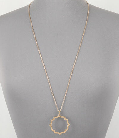 Antique / Slightly Matte Gold Necklace