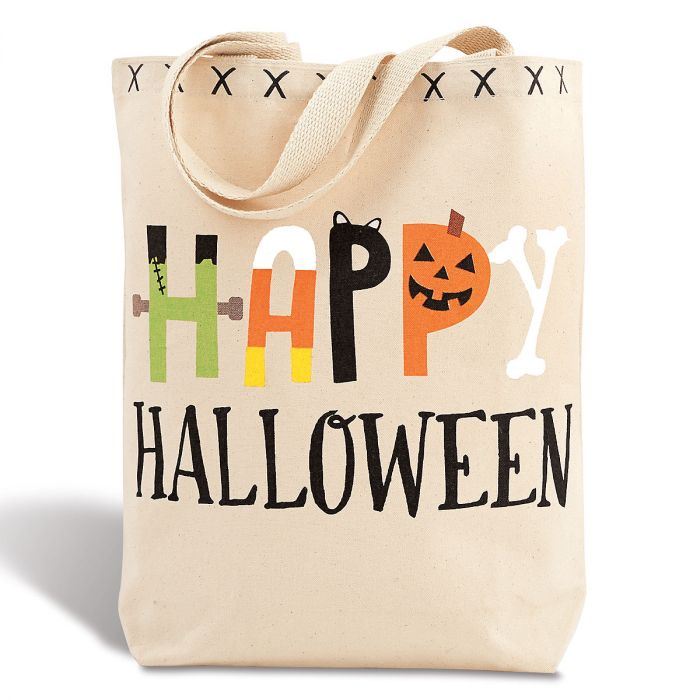 Halloween Canvas Tote