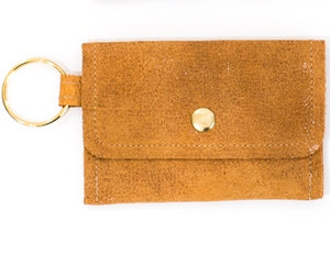Leather Card Holder Keychain