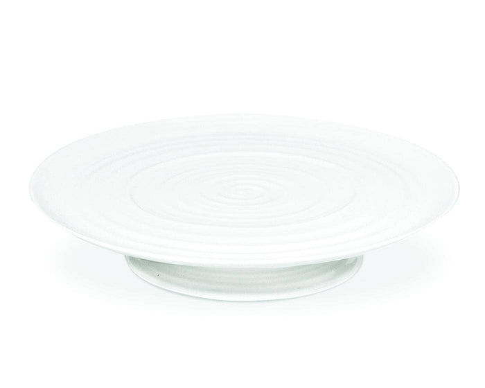 White Large Footed Cake Plates