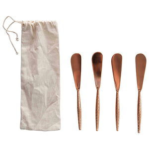 Copper Finish Stainless Steel Canape Spreaders