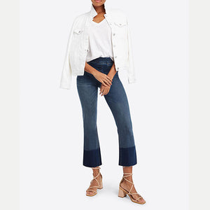 Cropped Flare Medium Wash Jeans