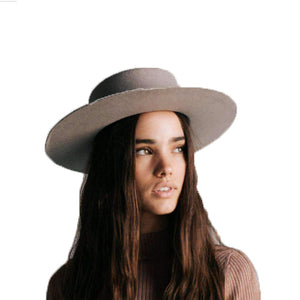 Dahlia Boater Hat Grey