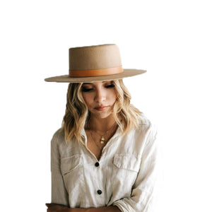 Dahlia Boater Hat Tan