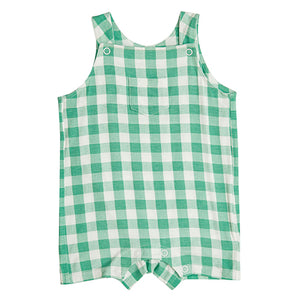 Green Gingham Overall Shortie